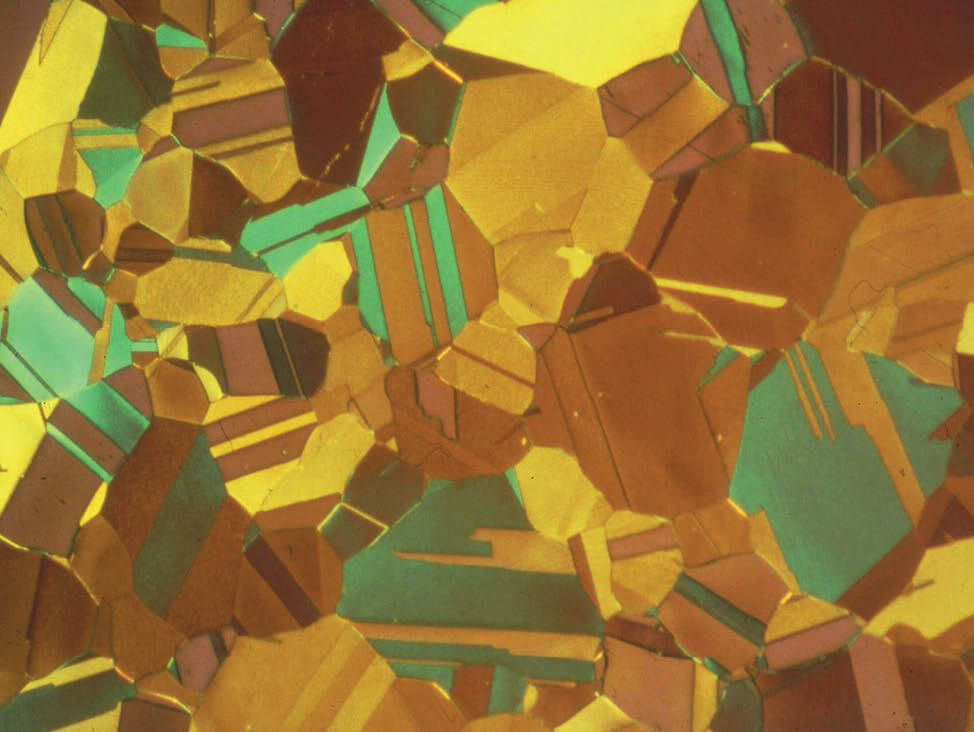 Abb.4 α-Messing, farbgeätzt