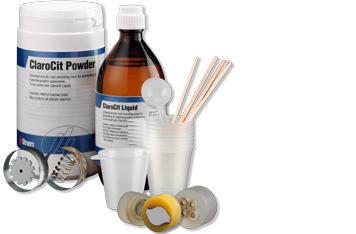 Consommables d'acrylique d'enrobage à froid de Struers