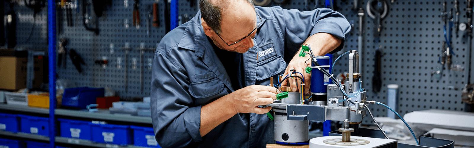Service de réparation en atelier Struers
