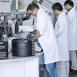 Materialographic laboratory